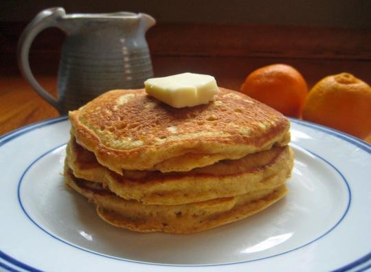 Pumpkin Pancakes Close