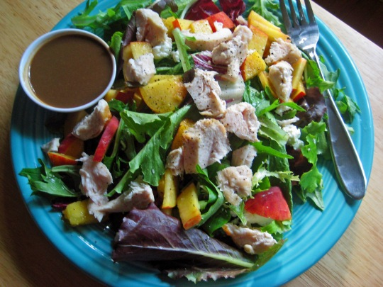 Peach and Chicken Salad 1